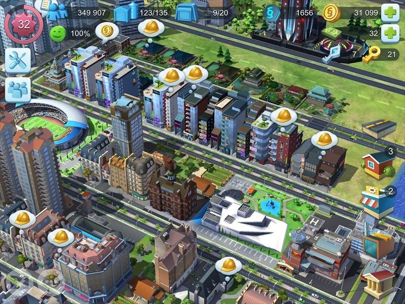 東京風な町並みのシムシティの画像