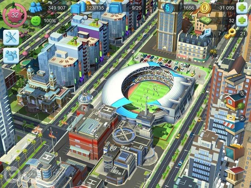 シムシティのサッカースタジアム