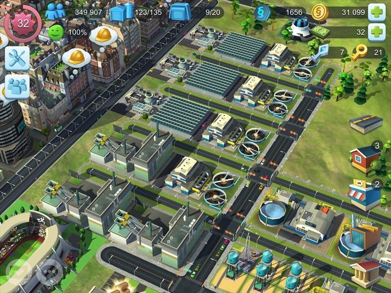 シムシティの太陽発電工場の画像