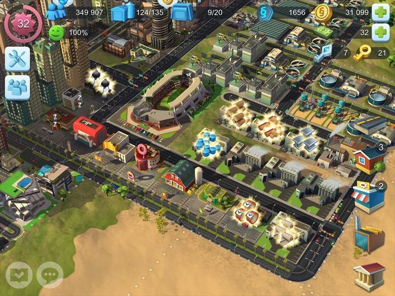 シムシティの生産工場の画像