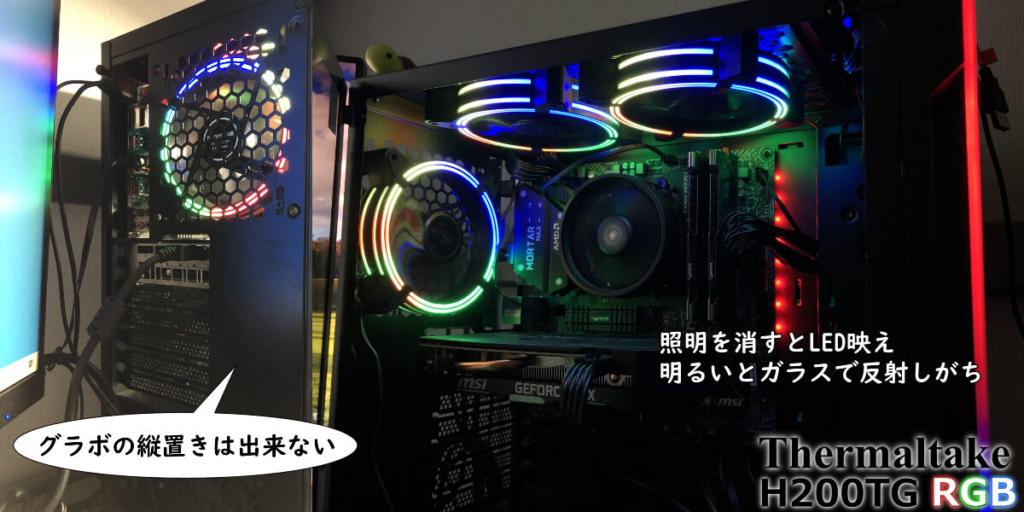 RGBファンを取り付けたH200TG