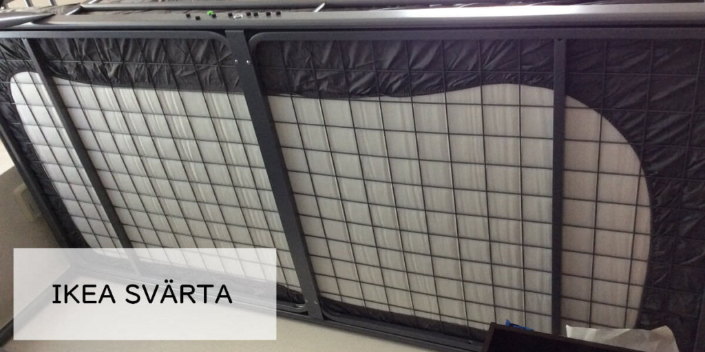 IKEAのロフトベッド「SVÄRTA」のネットを下から撮影した画像
