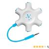 Amazon   Belkin マルチイヤホンスプリッター イヤホン分配・分岐 RockStar ブルー F8