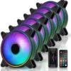 Amazon | EZDIY-FAB RGB ダブルスリムケースファン 120mm アドレサブル RGB 調節機能